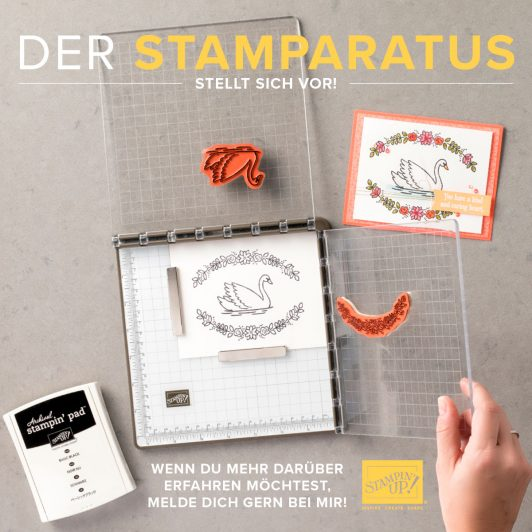 Stamparatus – Innovation! Die Stempel-Positionierhilfe